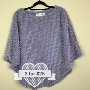 💰💰Black River | Purple Chenille Style Poncho S/M